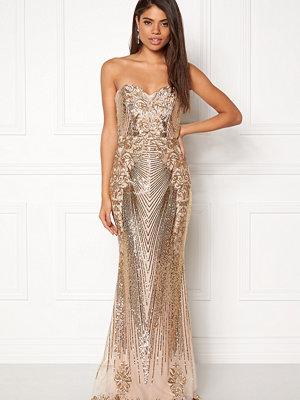 Goddiva Sequin Embroidered Dress