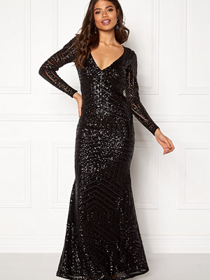 Goddiva Open Back Sequin Dress