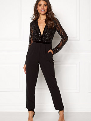 Jumpsuits & playsuits - Goddiva Sequin Bodice Jumpsuit