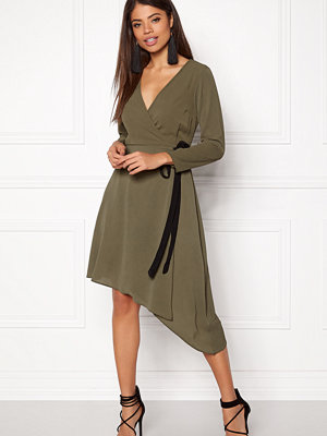 New Look Plain Wrap Midi Dress