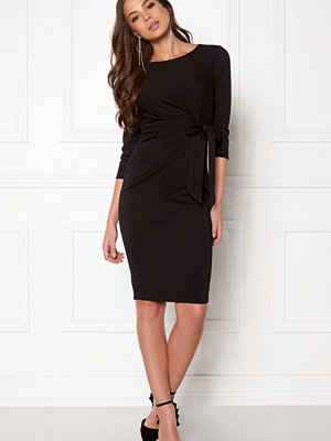 Goddiva Pleated Midi Tie Dress