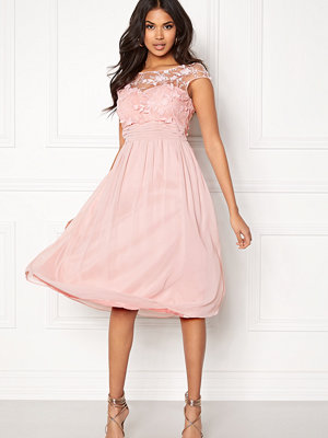 Goddiva Chiffon Midi Flower Dress