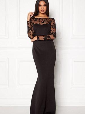 Goddiva Mesh Fishtail Maxi Dress