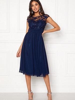 Goddiva Chiffon Midi Flower Dress