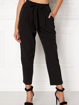 New Look svarta byxor New Tie Waist Trousers