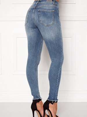Only Blush Mid Raw Jeans Light Blue Denim