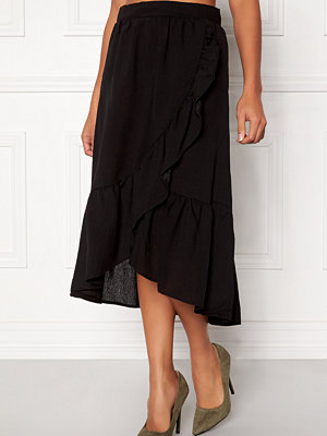 Vila Dama Flounce Midi Skirt