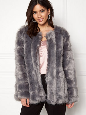 Urban Mist Plush Faux Fur Coat