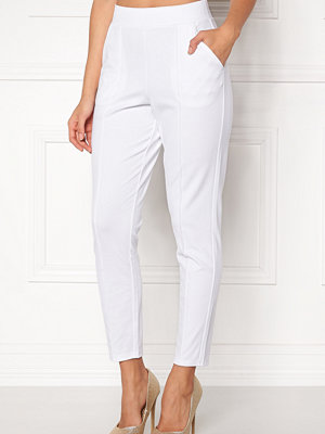 Bubbleroom vita byxor Brienne trousers