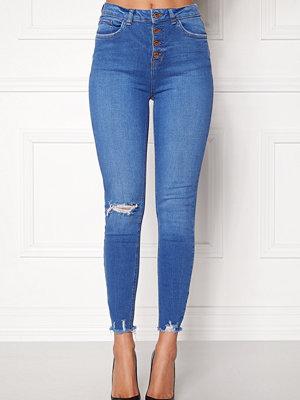 Jeans - New Look HW Skinny Rip Jeans