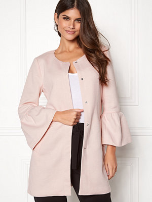 Only Sia Frill Light Melange Coat