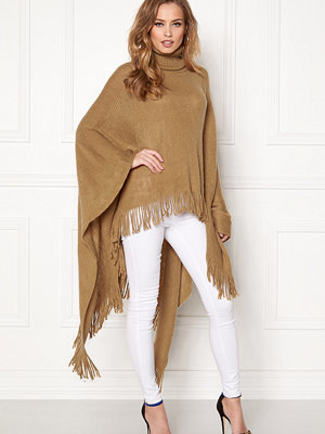 Qed London Roll Neck Fringed Poncho