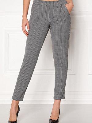 Jacqueline de Yong grå rutiga byxor Delicious Check Pant