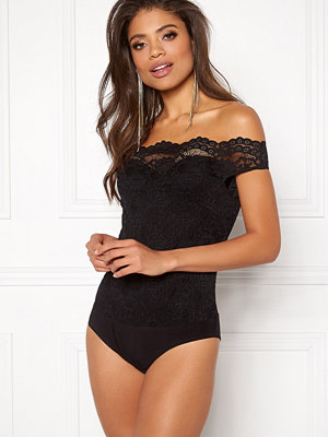 Bodys & set - Goddiva Bardot Lace Bodysuit