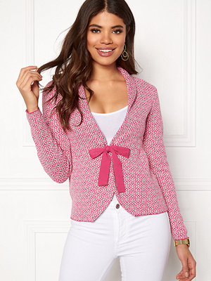 Happy Holly Kara cardigan Pink / Offwhite