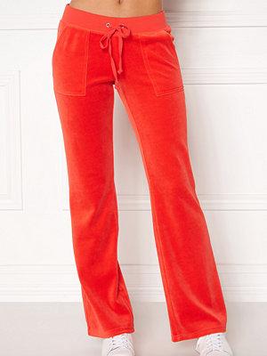 Juicy Couture röda byxor Velour Del Rey Pant