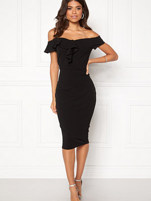Ax Paris Bardot Frill Detail Midi Dress