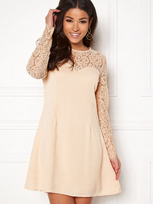 Goddiva Lace Trim Skater Dress