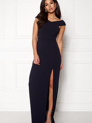 Ax Paris Off The Shoulder Cross Maxi Dress