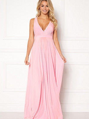 Goddiva Pleated Oscar Maxi Dress