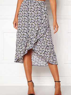 Only Lilac Long Frill Skirt