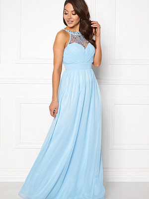 Goddiva Embellished Chiffon Maxi Dress