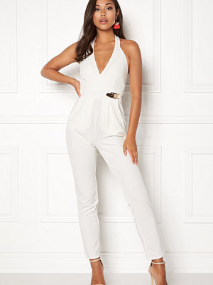 Goddiva Resort Gold Buckle Jumpsuit
