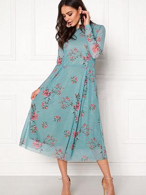 Rut & Circle Long Sleeve Mesh Dress