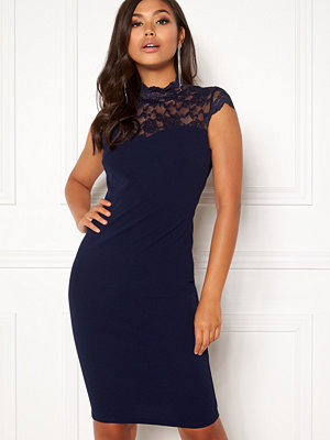 Goddiva Open Lace Midi Lace Dress