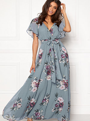 Goddiva Floral Sleeve Maxi Dress