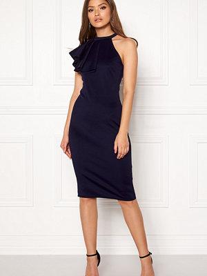 Goddiva Asymmetric Frill Dress