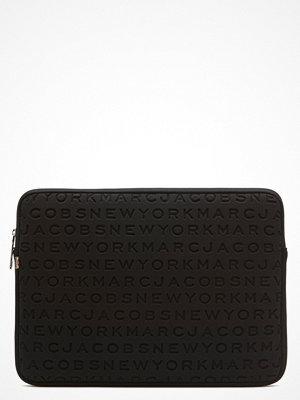"Marc Jacobs svart mönstrad väska Computer Case II 15"""