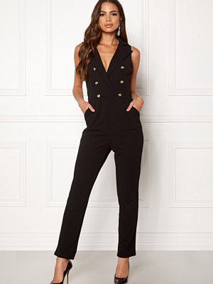 Girl In Mind Tailored V Neck Jumpsuit