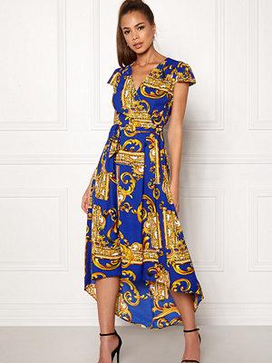 Ax Paris Printed Cap Maxi Dress