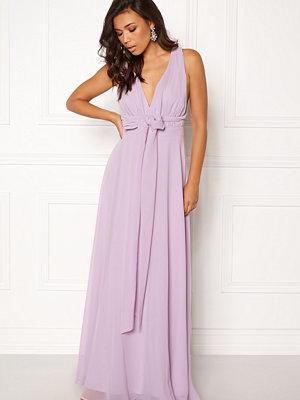 Goddiva Multi Tie Chiffon Dress Iris