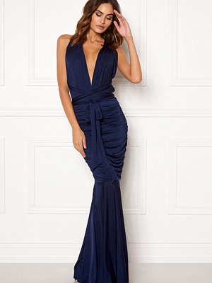 Goddiva Multi Tie Fishtail Dress