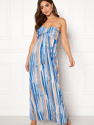 Goddiva Resort Bandeau Maxi Dress