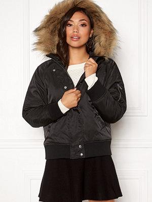New Look Denham Fur Hood Bomber