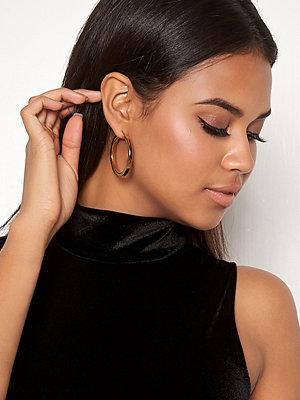 WOS örhängen Flat Gold Hoops Earrings