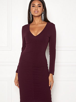 Ax Paris V-Neck Rouch Front Dress