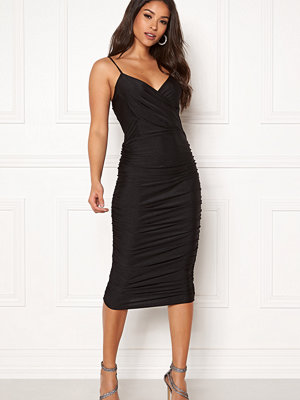 Ax Paris Rouched Midi Dress