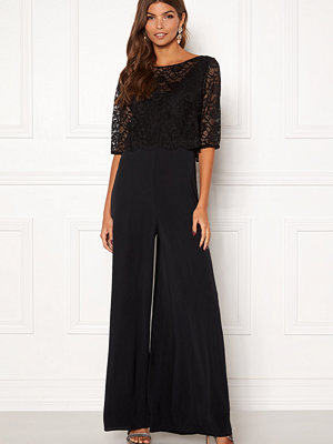 John Zack Lace Top Culotte Jumpsuit