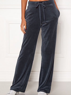 Only mörkgrå byxor Thea Wide Leg Pants