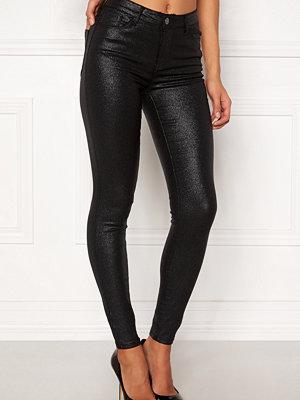 Vila svarta byxor Commit RW Glitter Jeans