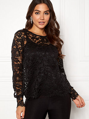 Pieces Kari LS Lace Top