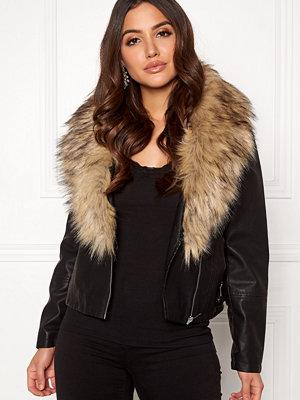New Look Sara Shawl Collar PU