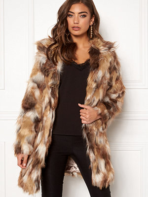 Qed London Animal Faux Fur Coat