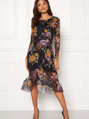 Pieces Lulu Midi LS Mesh Dress