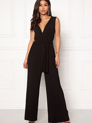 Ax Paris Pleated Tie Jumpsuit