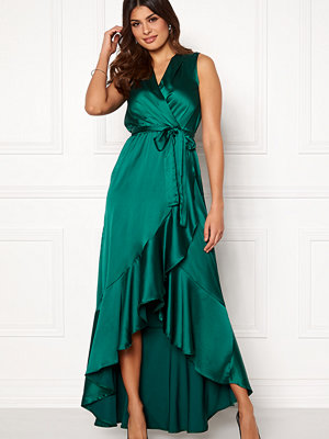 John Zack Wrap Frill Maxi Dress